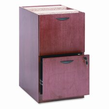 Two-Drawer Pedestal File, 15-5/8w x 22d x 27-3/4h, Bourbon Cherry