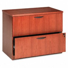 <strong>Basyx by HON</strong> Veneer Two-Drawer Locking Lateral File with Beaded Edge Detail