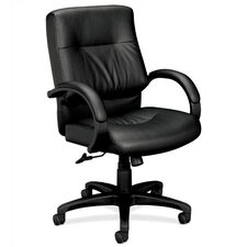 Leather Office Chair with Padded Arms
