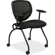 <strong>Basyx by HON</strong> Mesh Back Nesting Guest Chair (Set of 2)