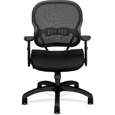 <strong>Basyx by HON</strong> VL700 Series Midback Mesh Manager Chair with Arms