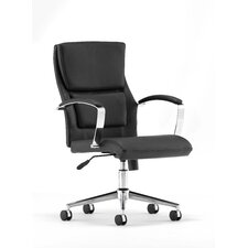 Midback Leather Executive Task Chair with Arms