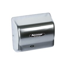 Advantage Standard 100 - 240 Volt Hand Dryer in Satin Chrome