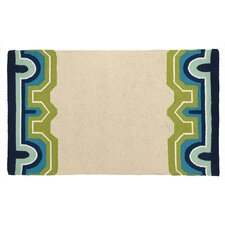 Arcata Tan/Green Hook Area Rug