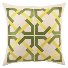 <strong>Trina Turk Residential</strong> Geometric Tile Linen Pillow