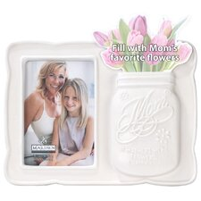 "Mom 3"" x 5"" Ceramic Vase Picture Frame"