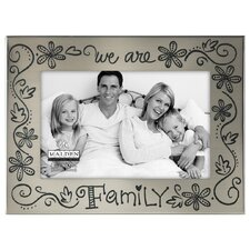 "4"" x 6"" We Are Family Picture Frame"