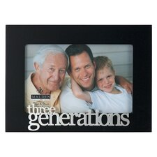 "4"" x 6"" Three Generations Picture Frame"