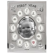Baby's 1st Year Picture Frame