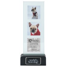 World's Best Dog Block Picture Frame