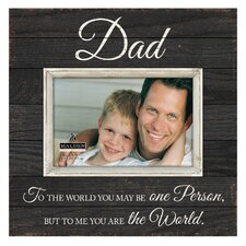 Dad Sunwashed Picture Frame