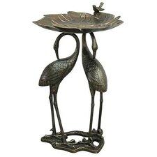 Heron / Lily Birdbath