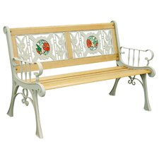 Tiffany Hummingbird Cast Iron Park Bench