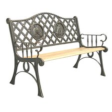 Horse Cast Iron Park Bench