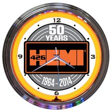 "15"" Hemi 50Th Anniversary Neon Clock"
