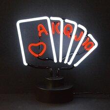 Bar & Game Room Royal Flush Poker Neon Sign