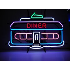 Cars & Motorcycles Diner Car Neon Sign