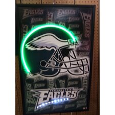 Football Helmet Neon LED Framed Vintage Advertisement