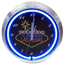 "<strong>Neonetics</strong> 15"" Las Vegas Sign Wall Clock"