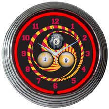 "<strong>Neonetics</strong> Bar and Game Room 15"" Billiard 1,8,9 Wall Clock"