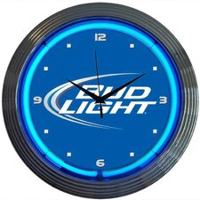 "<strong>Neonetics</strong> 15"" Bud Light Wall Clock"