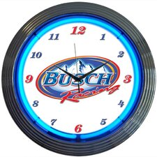 Busch Racing Neon Clock