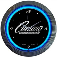 "Cars and Motorcycles 15"" Camaro Wall Clock"