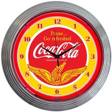 "<strong>Neonetics</strong> Drinks 15"" Coca Cola Wings Wall Clock"