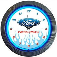 "<strong>Neonetics</strong> 15"" Ford Racing Wall Clock"
