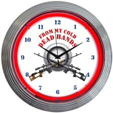 "<strong>Neonetics</strong> 15"" From My Cold Dead Hands Firearms Wall Clock"
