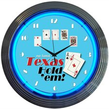 "<strong>Neonetics</strong> 15"" Poker Texas Hold 'Em Wall Clock"