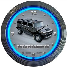 "<strong>Neonetics</strong> 15"" Hummer Wall Clock"