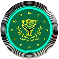 "<strong>Neonetics</strong> 15"" Irish Erin Go Bragh Wall Clock"