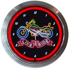 "<strong>Neonetics</strong> 15"" Live 2 Ride Wall Clock"