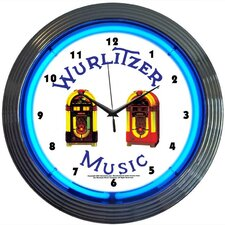 "15"" Wurlitzer Jukebox Wall Clock"
