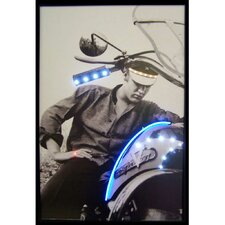 Elvis Motorcycle Neon LED Framed Vintage Advertisement