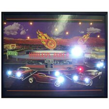 Haileys Diner LED Lighted Print