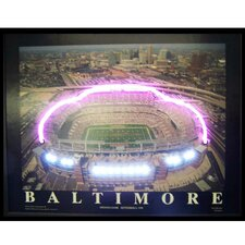 Baltimore Football Stadium Neon LED Poster Sign