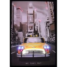 Cars & Motorcycles NY Taxi Neon LED Poster