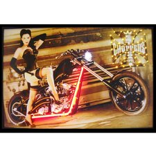 West Coast Choppers Girl Neon LED Poster Sign
