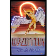 Bar and Game Room Led Zeppelin Neon LED Poster
