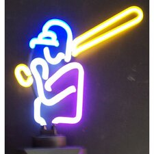 Sports Baseball Player Neon Sign