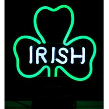 Irish Shamrock Neon Sculpture