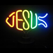 <strong>Neonetics</strong> Jesus Fish Neon Sculpture