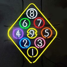 Business Signs 9 Ball Rack Neon Sign