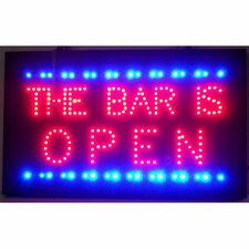 Bar is Open LED Sign
