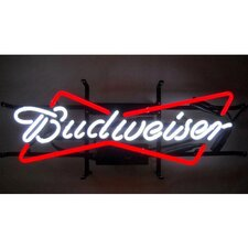 <strong>Neonetics</strong> Business Signs Budweiser Bowtie Neon Sign