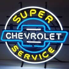 Cars & Motorcycles GM Chevrolet Service Neon Sign