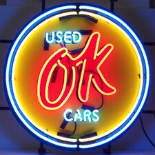 Cars and Motorcycles Chevy Vintage Ok Used Cars Neon Sign