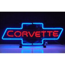 Cars and Motorcycles Corvette Bowtie Neon Sign